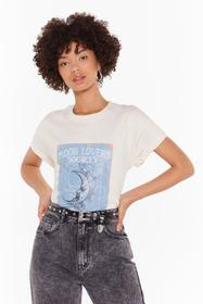 Nasty Gal Natural Moon Lovers Society Graphic Tee
