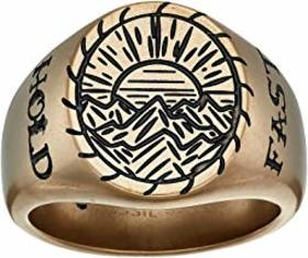 "Fossil Signet ""Hold Fast"" Ring"