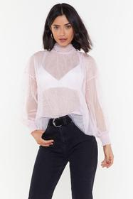Nasty Gal Pink What Pearls are Made of Sheer High