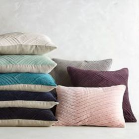 Pleated Velvet Pillow Cover