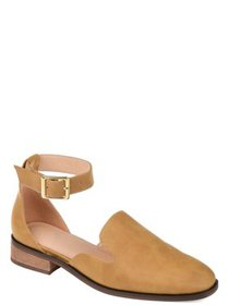 Womens Square Toe Ankle Strap Flat