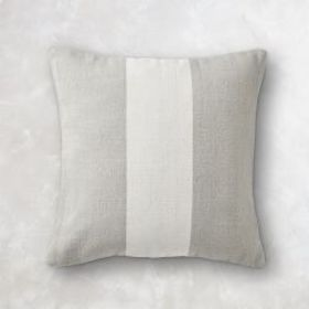 Blair Dhurrie Wool Pillow Cover, Grey