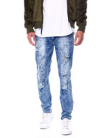 Buyers Picks bleach out distressed stretch jean w