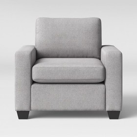 Barnstable Pillow Arm Transitional Chair Gray - Th
