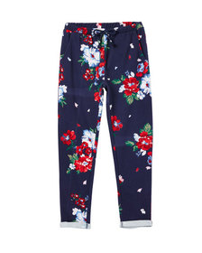 Joules Girl's Jazzy Floral Print Jogger Pants Size