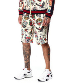 Ed Hardy slim fit track short