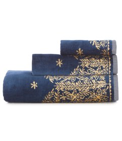 Southern Living Holiday Velour Reversible Bath Tow