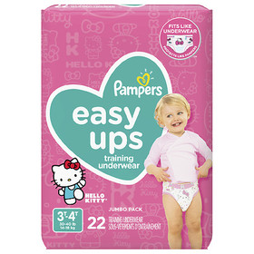 Pampers Easy Ups Training Underwear Girls 3T-4T