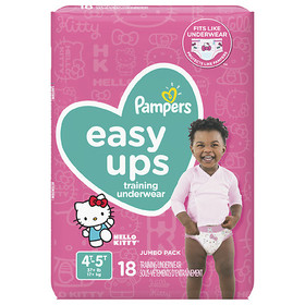Pampers Easy Ups Training Underwear Girls 4T-5T