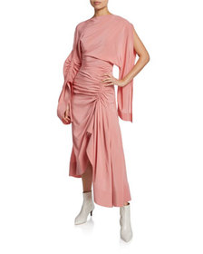 Thierry Mugler Crepe de Chine Cocktail Dress w/ As