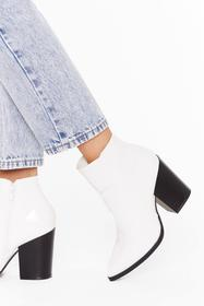 Nasty Gal White Save Your Soul Faux Leather Patent