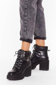 Nasty Gal Black Don't Get Cold Feet Faux Leather H