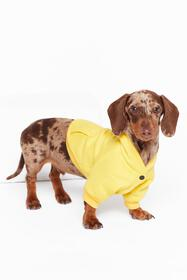 Nasty Gal Yellow It's Been a Ruff Day Dog Hoodie