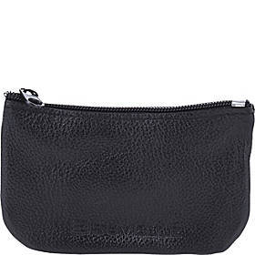 Suvelle Mens Zippered Coin Pouch Change Wallet