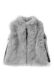 Splendid Metallic Striped Faux Fur Vest (Baby)