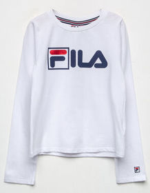 FILA Box Logo White Girls Tee_