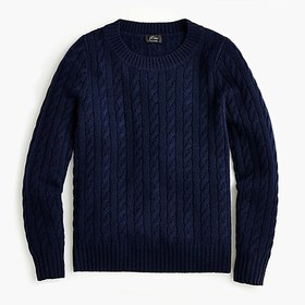 J. Crew Cable crewneck sweater in everyday cashmer