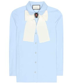 Gucci Cotton blouse with brooch