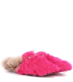 Gucci Princetown shearling slippers