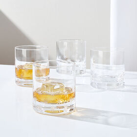 Crate Barrel NewTwinkle Cut Double Old-Fashioned G