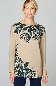 Pure Jill Relaxed Boat-Neck Top