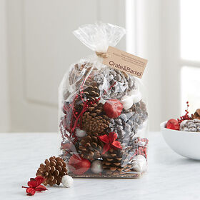 Crate Barrel Red and White Balsam Potpourri