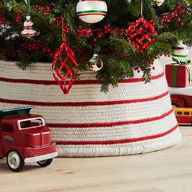 Crate Barrel Red and White Tree Collar