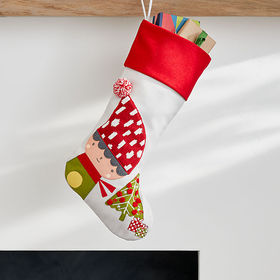 Crate Barrel Whimsy Elf Stocking