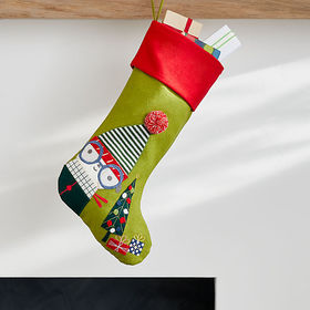 Crate Barrel Whimsy Dog Stocking