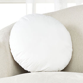 Crate Barrel Feather-Down Round Pillow Insert 18