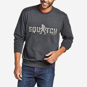 Men's Camp Fleece Graphic Crew Sweatshirt