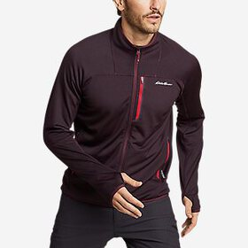 Men's High Route Grid Fleece Full-Zip Mock-Neck