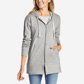 Women's Long Full-Zip Terry Sweatshirt