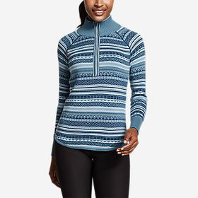 Women's Engage 1/4-Zip Fair Isle Sweater