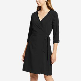 Women's Departure Long-Sleeve Wrap Dress