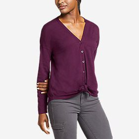 Women's Gate Check Long-Sleeve Convertible Top