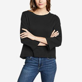 Women's Favorite 3/4-Sleeve Easy Crew - Solid