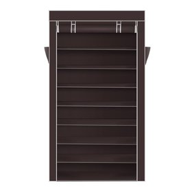 Zimtown 10 Tiers 45 Pairs Brown Shoe Rack Shelf St