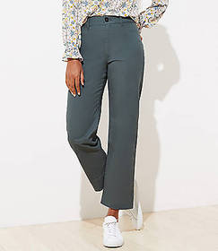 Slim Wide Leg Ankle Pants