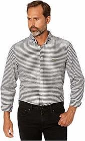 Lacoste Long Sleeve Oxford Gingham Button Down Col