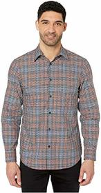 Perry Ellis Dobby Multicolor Check Long Sleeve But