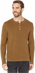 Lucky Brand Long Sleeve Snap Henley