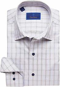 David Donahue Casual Fit Spread Collar Long Sleeve