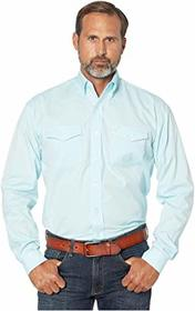 Stetson 3868 Solid Pinpoint Oxford - Aqua