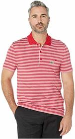 Lacoste Short Sleeve Ultra Dry Striped Golf Polo w