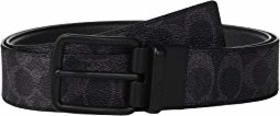 COACH Wide Harness Signature Reversible Belt
