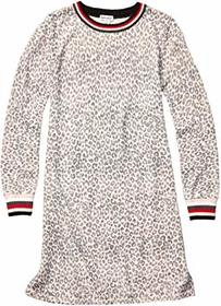 Splendid Littles Leopard Sweater Knit Dress (Big K