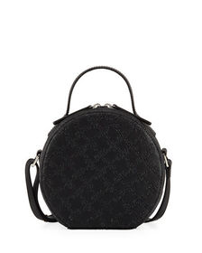 French Connection Fifi Lizard Embossed Mini Hat Bo