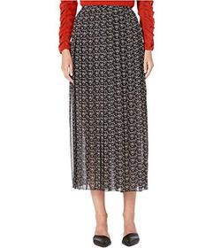 See by Chloe Micro Print Pleated Maxi Skirt
