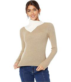 See by Chloe Neutral Color Block Sweater